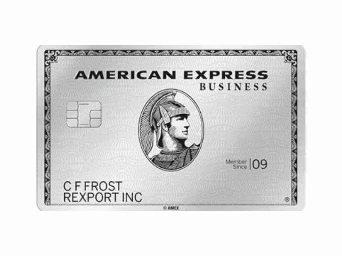 American Express Business Platinum credit card.