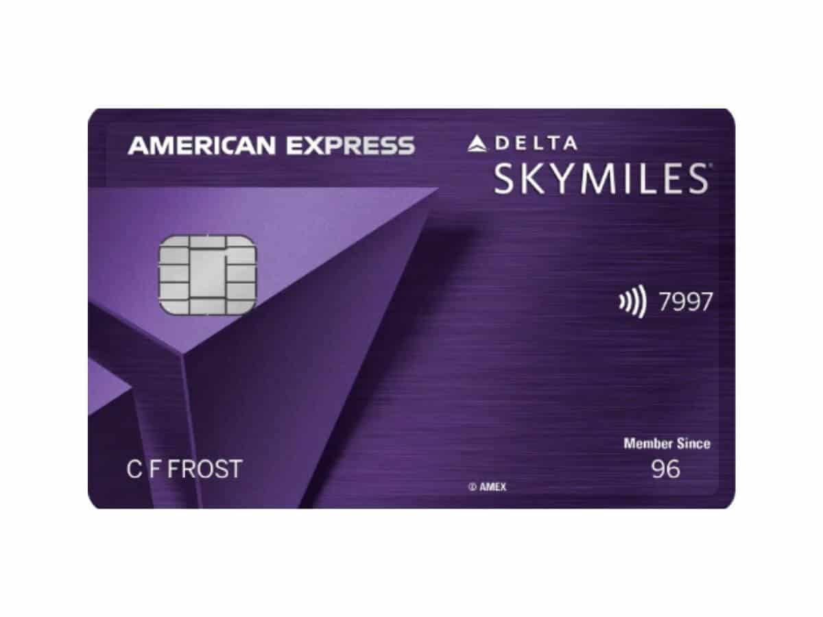 Delta SkyMiles Reserve American Express credit card.