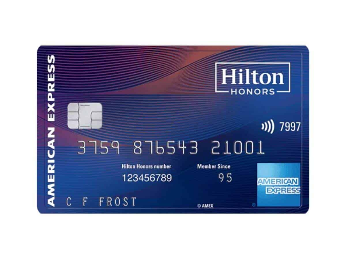 Hilton Honors American Express Aspire credit card.