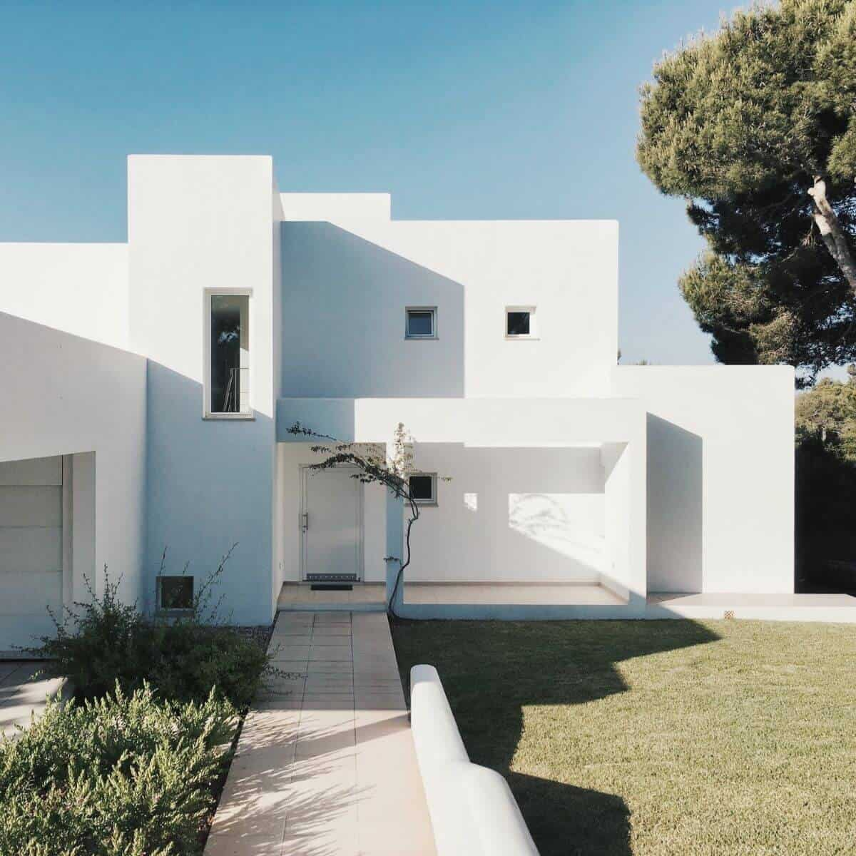 White minimalist house.
