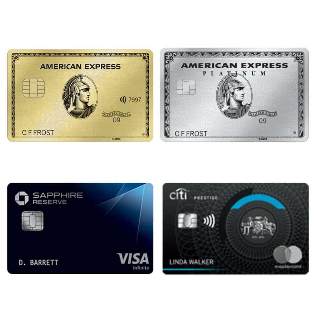 Four premium credit cards.