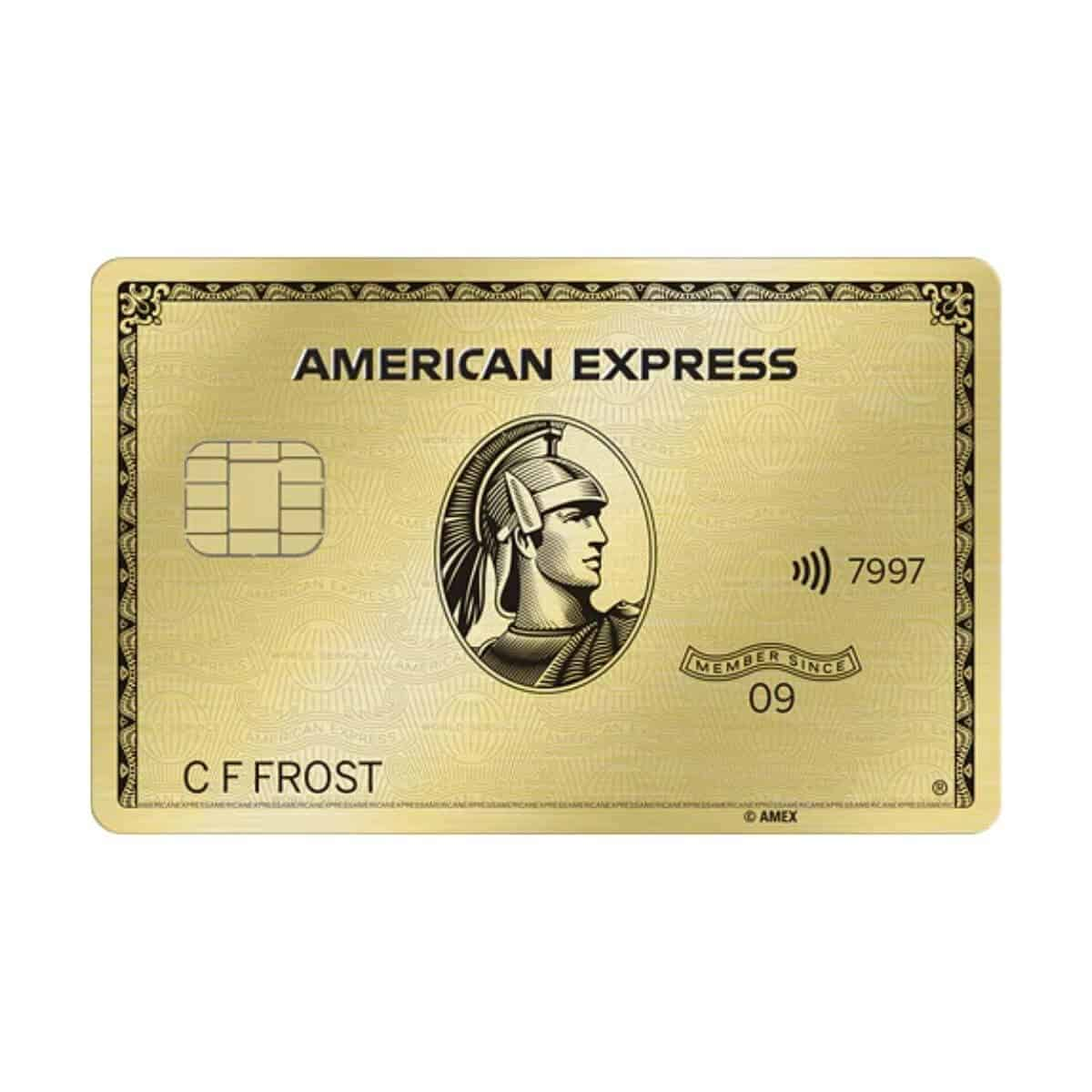 American Express Gold Card.
