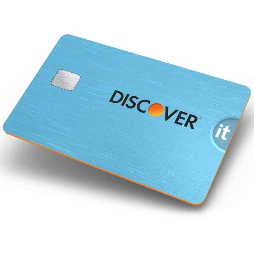 Blue Discover credit card.